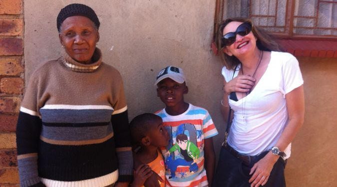 Jill visiting Go Project in South Africa 2012